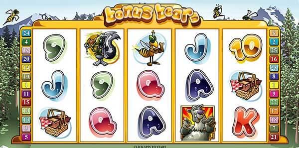 สัญลักษณ์ในเกม Bonus Bear