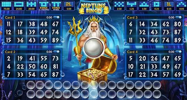 สัญลักษณ์ของเกม Neptune Treasure Bingo