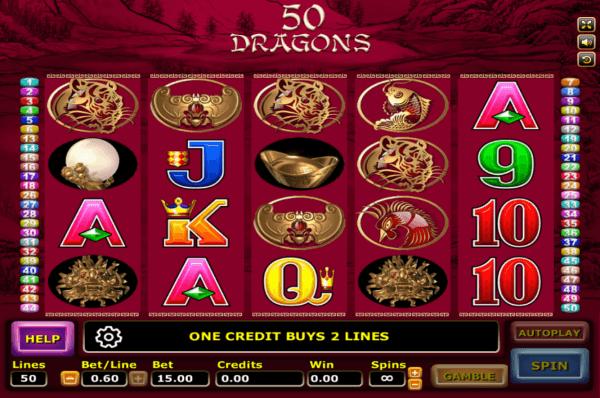 สัญลักษณ์ในเกม 50 Dragons