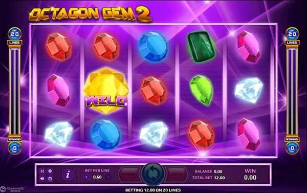 อัตราการจ่ายรางวัลของเกมOctagon Gem 2