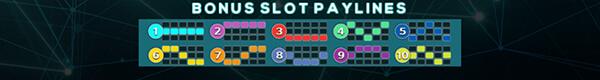 ไลน์ชนะการเดิมพันของเกม Cryptomania Bingo