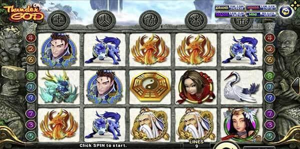 สัญลักษณ์เกม Thunder God